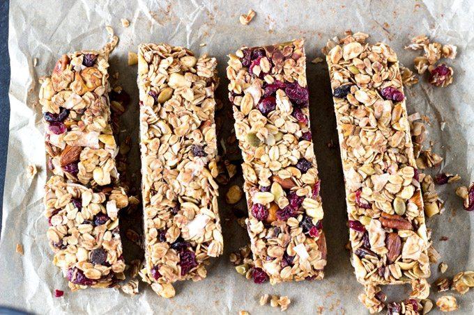 Homemade Trail Mix Granola Bars Whole Healthy Kitchen